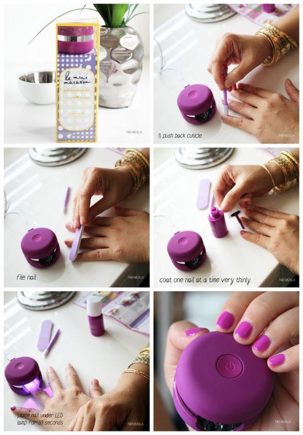 DIY GEL MANICURE | Le Mini Macaron Gel Manicure Kit | DIY Beauty ...