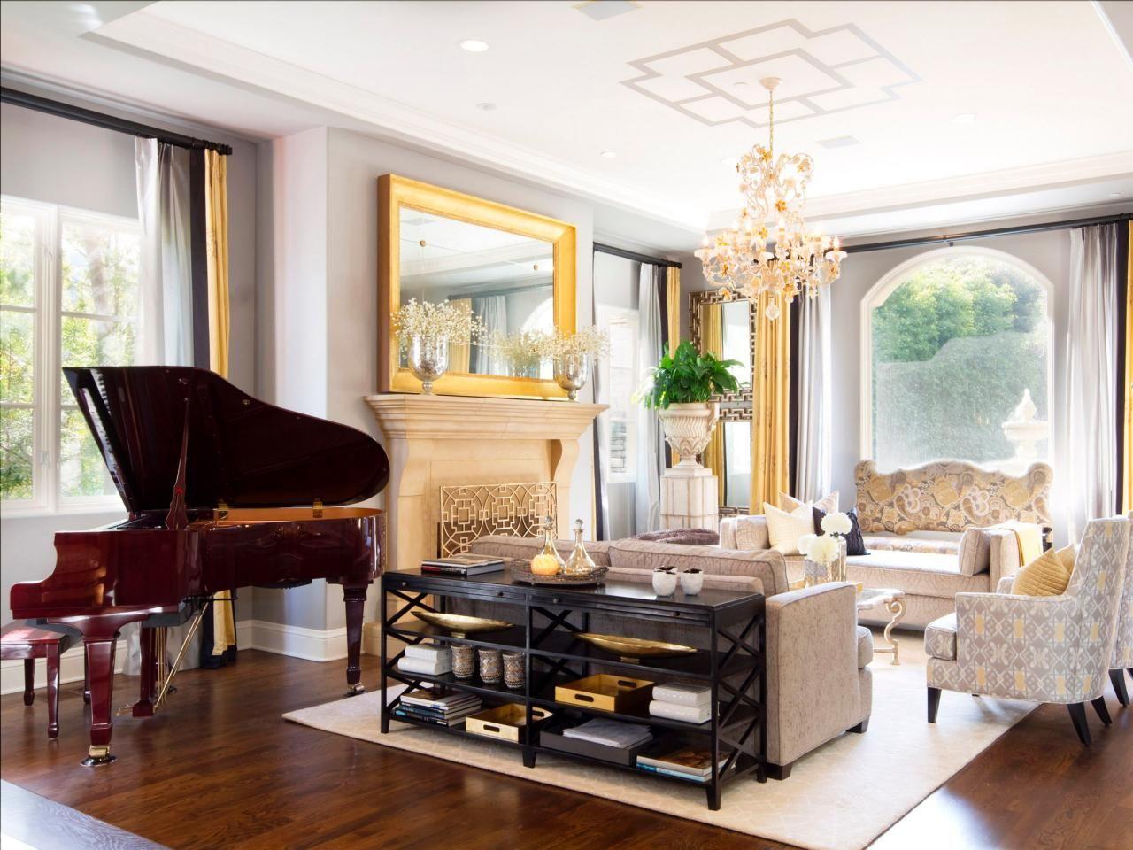 Photos   HGTV   Gold living room, Living room decor modern ...