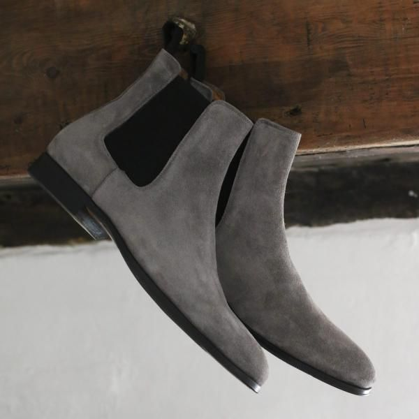 Grey Suede Chelsea Boot   Made in Italy   $280   Chelsea ...