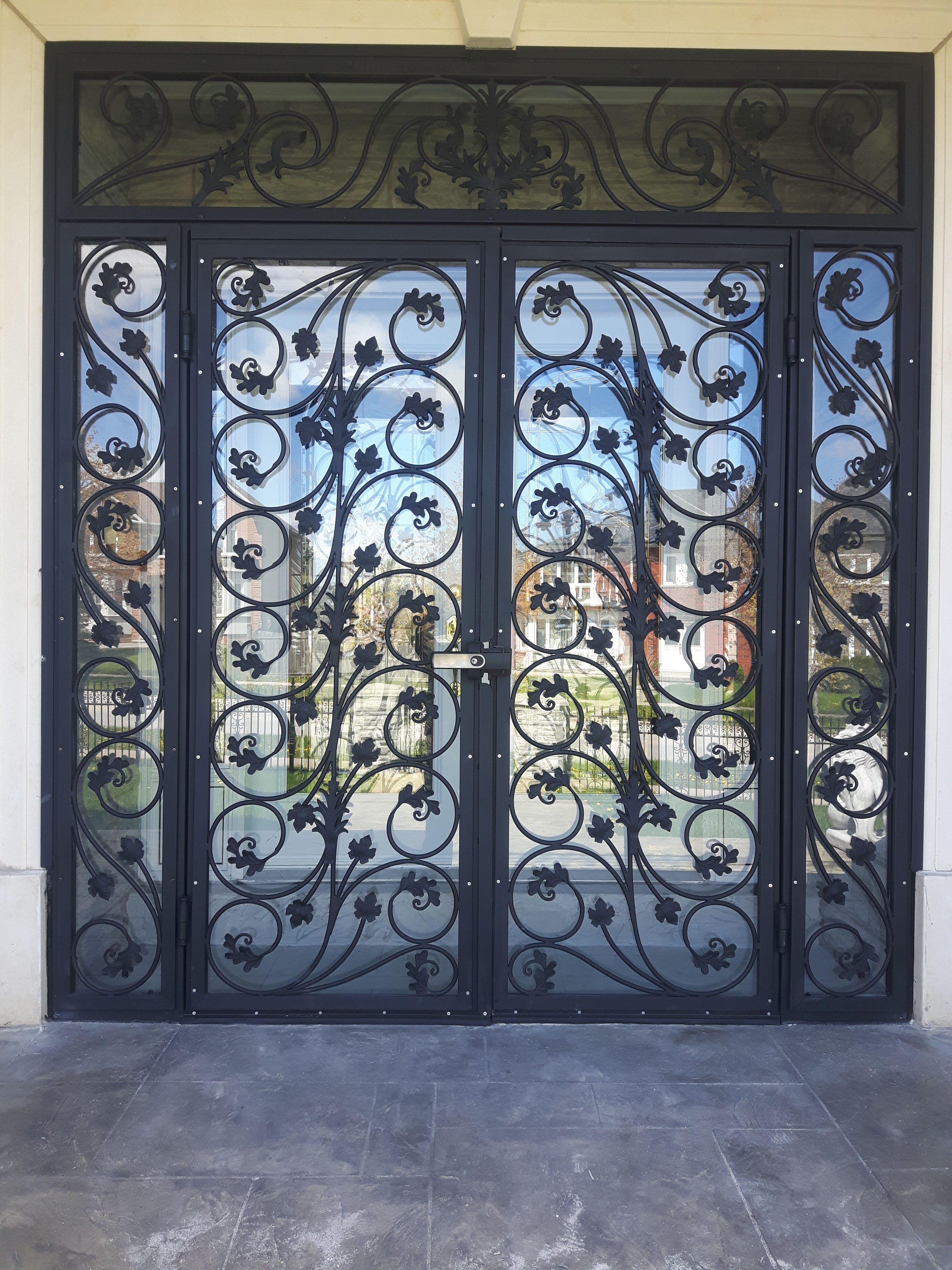 Wrought Iron Door Decor