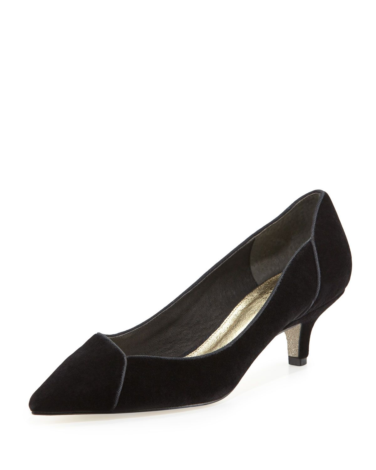 dbf7987c127 Lydia Velvet Low-Heel Evening Pump Black | *Costumes & Accessories ...
