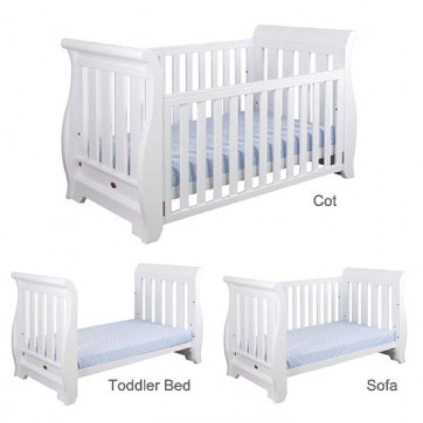 Boori Country Sleigh 3 In 1 Cot Baby Bedroom