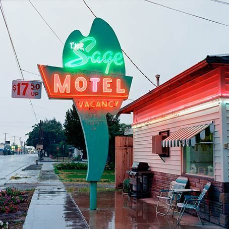 The Sage Motel Lovelock Nevada Sy And Civilized Signage Now Then Pinterest Hotel
