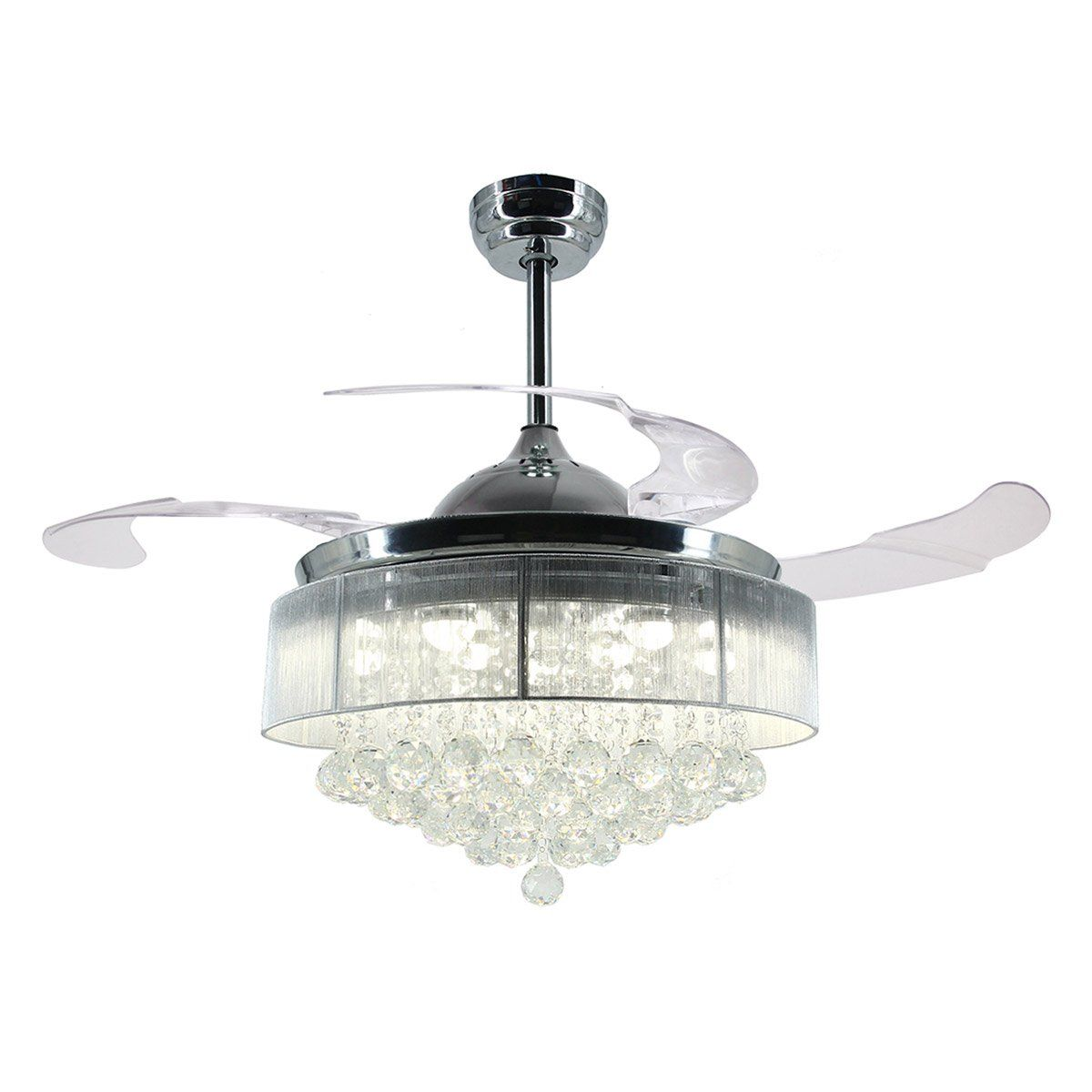 Luxury Fan with Retractable Blades
