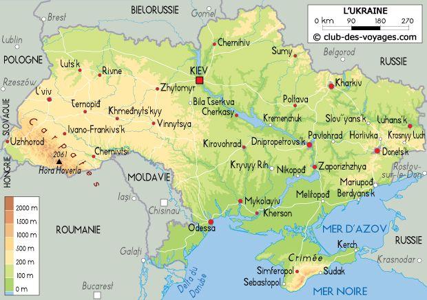 Carte de l'Ukraine | carte géographique | Pinterest | Ukraine