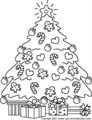 Desenhos E Riscos De árvores De Natal Para Colorir Desenhos E