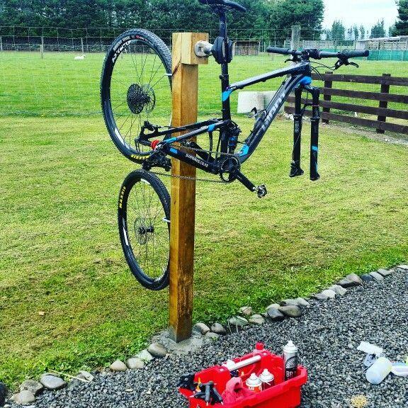 Homemade Wash Stand Mtbstorage Bike Stand Diy