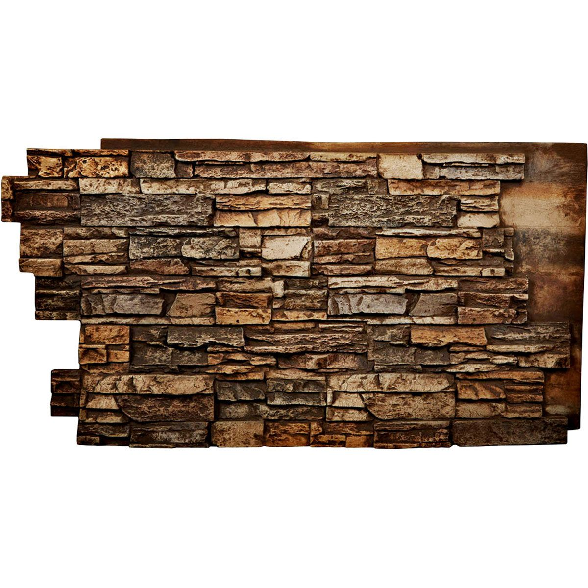 48 Inch W X 25 Inch H X 1 1 2 Inch D Stacked Endurathane Faux Stone Siding Panel In 2020 Stacked Stone Walls Faux Stone Siding Stone Wall Panels