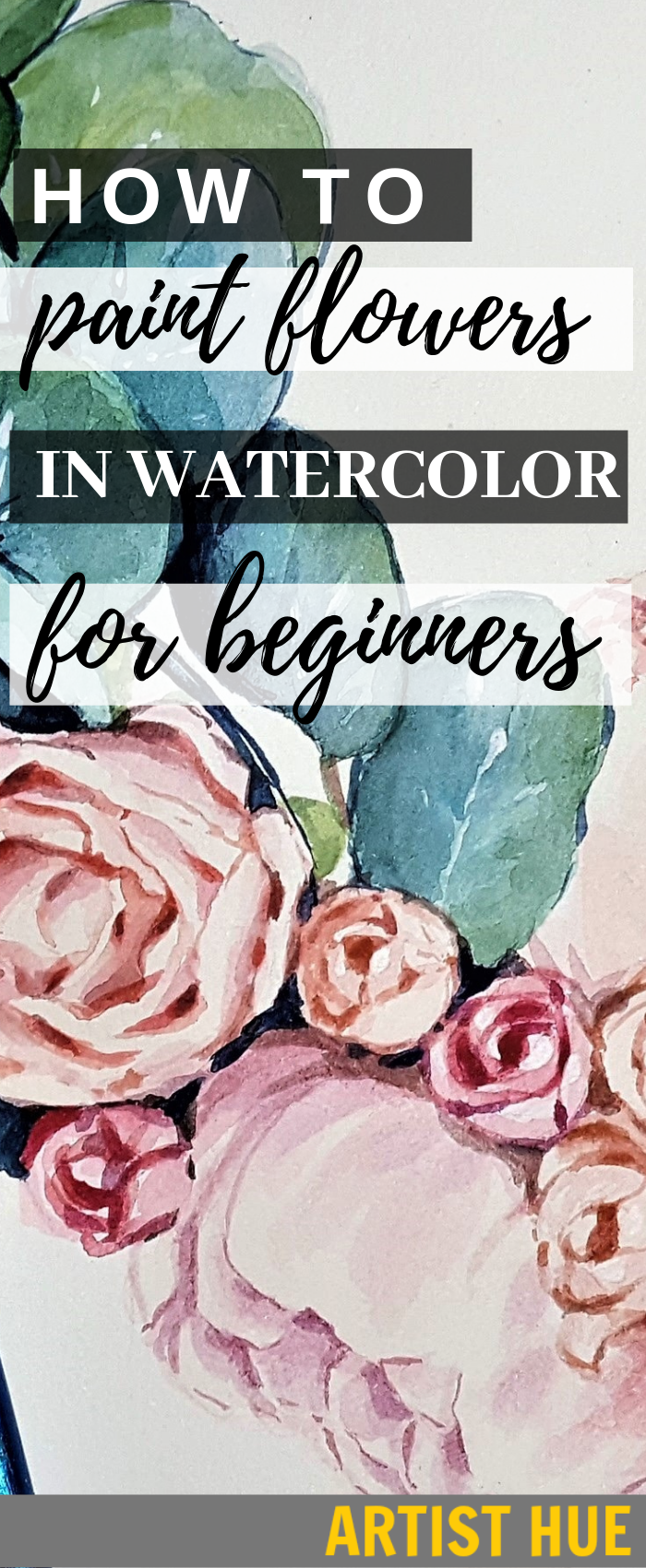 How to Paint Watercolor Flowers for Beginners