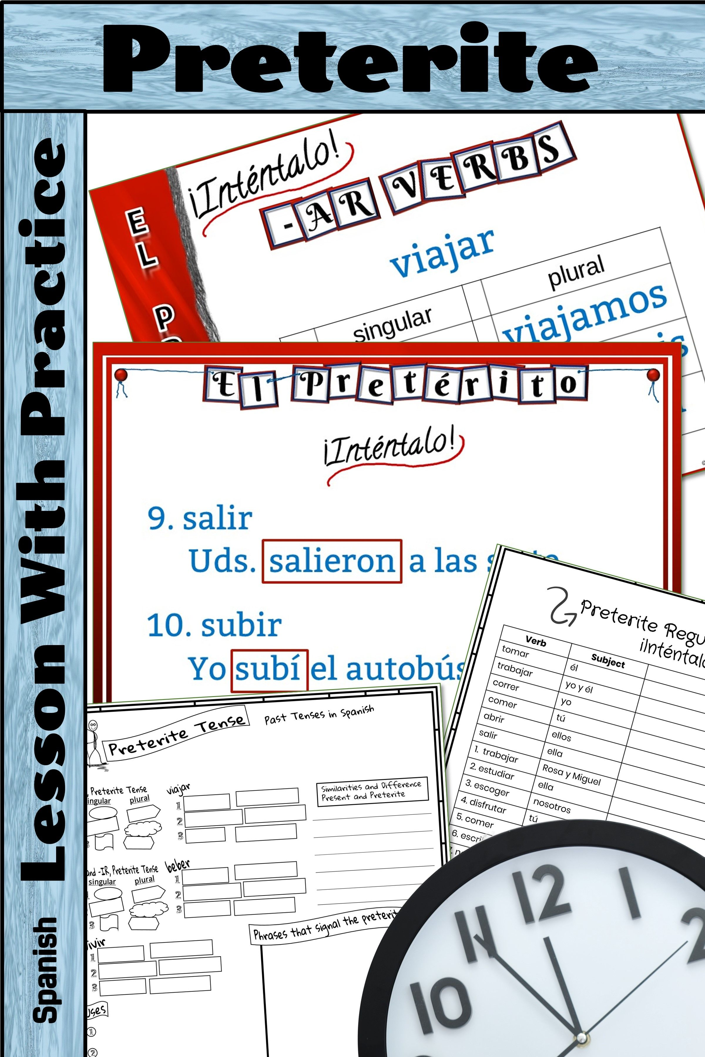 How To Conjugate And Use Verbs In The Preterite Tense In Spanish This Powerpoint Steps Students Through The Con Preterite Spanish Classroom Games Guided Notes [ 3600 x 2400 Pixel ]