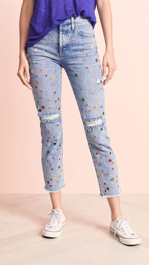 Pin by eruanna on clothes etc Girlfriend jeans, Applique