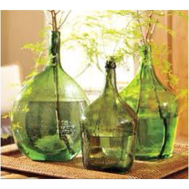 Damajuanas vasijas antiguas de cristal de colores the - Cortar botella cristal ...
