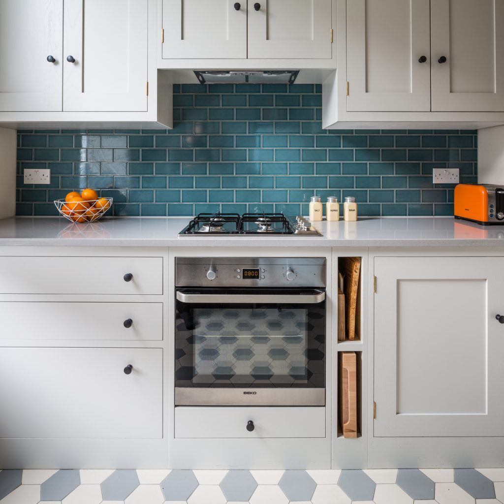 Oak Shaker Kitchen Cabinets Painted In Farrow Amp Ball