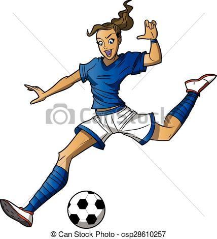 Imagen Relacionada Girls Playing Football Cartoons Vector Football Illustration