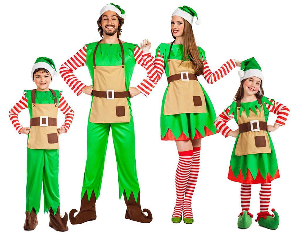 Grupo elfos de navidad disfraces carnaval - Disfraces duendes navidenos ...