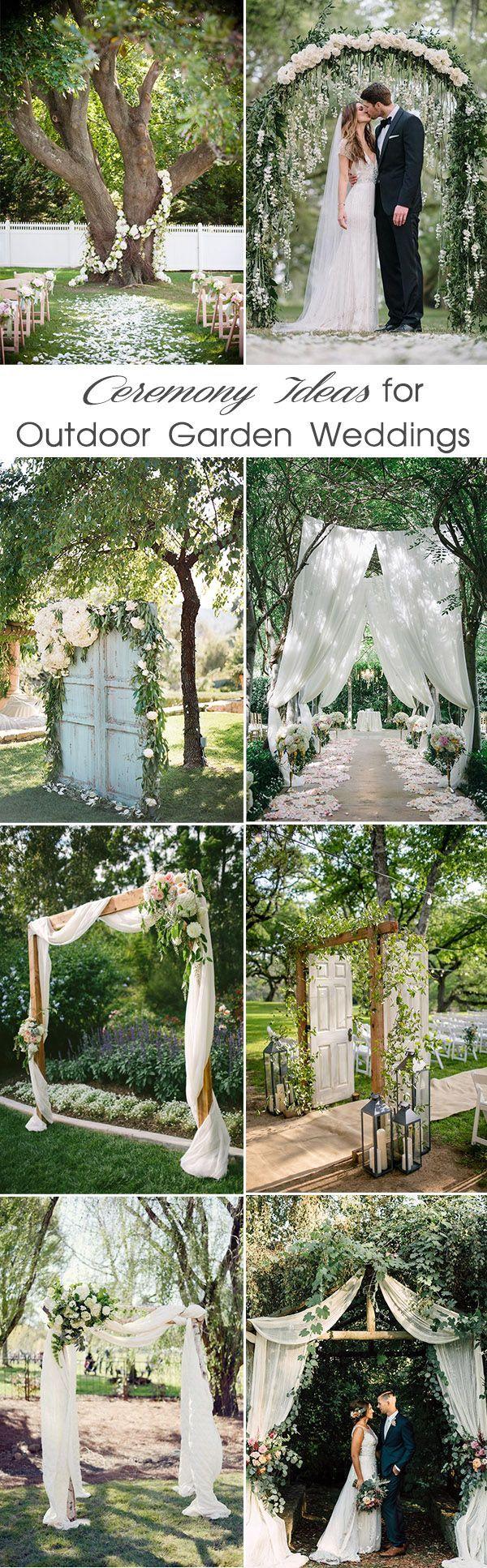 inspirerende outdoor tuin huwelijksceremonie ideeën