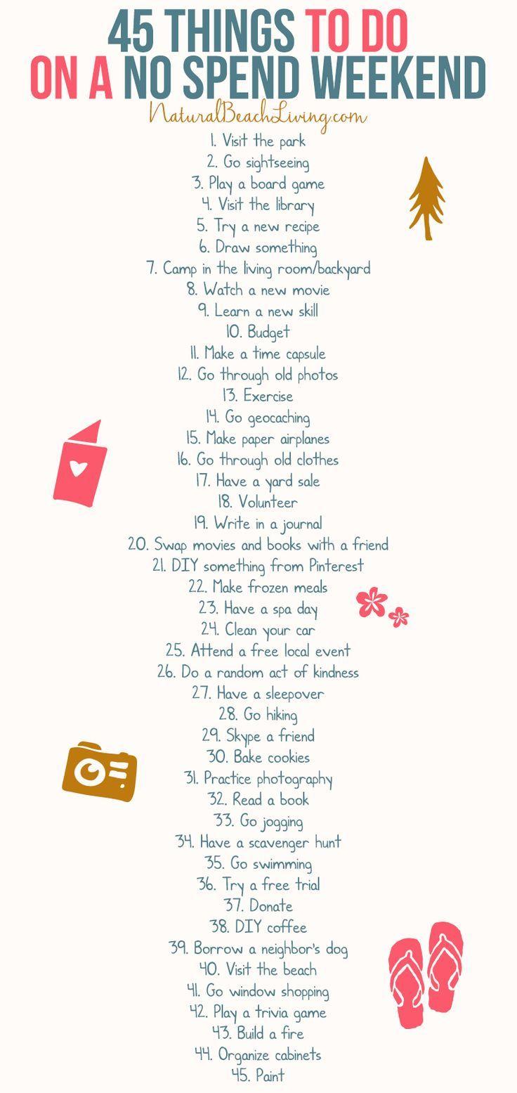 50 Keine Wochenendaktivitäten, die jeder liebt  #jeder #keine #liebt #wochenendaktivitaten #50freeprintables
