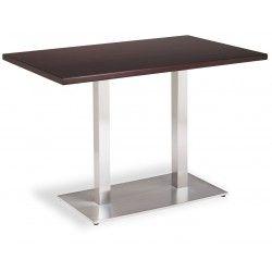 Mesa NOEL DOBLE INOX | Mesa de cocina cuadrada con pata ...