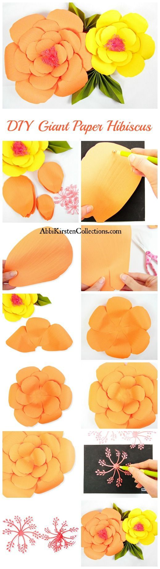 Summertime Giant Hibiscus Paper Flowers Free Printable Flower