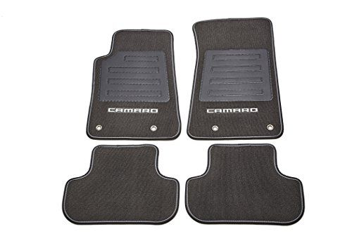 Gm Accessories 92221512 Front And Rear Carpet Floor Mats In Black