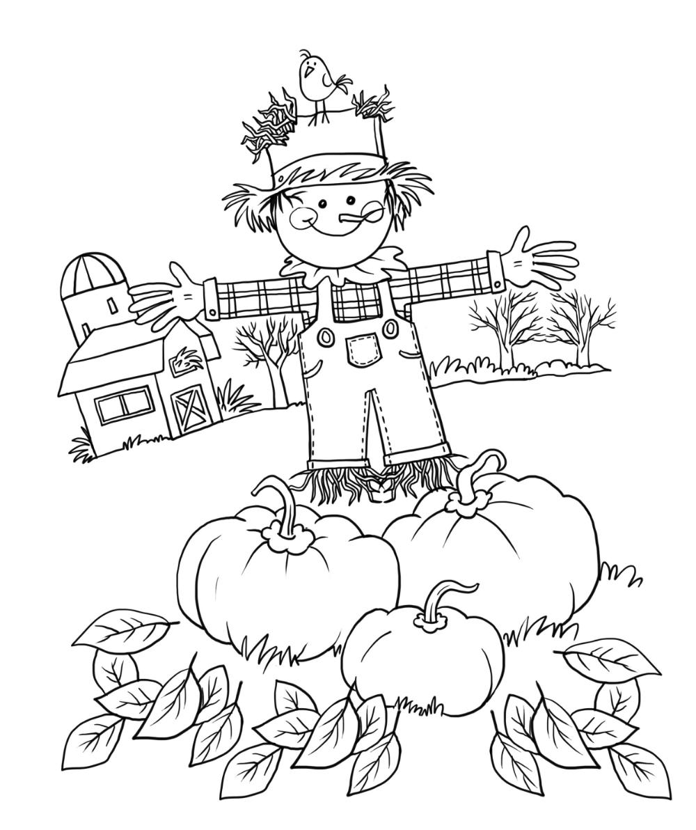 Fall Coloring Sheets - Kids Learning Activity #coloringsheets