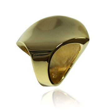 Noir jewelry: Smooth Modernist Fan Out Ring