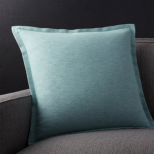Linden Ocean 40 Pillow With FeatherDown Insert Crate And Barrel Beauteous Crate And Barrel Throw Pillow Inserts