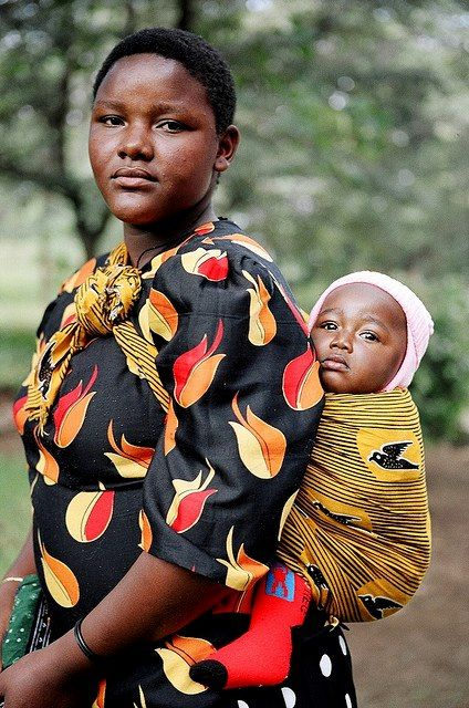 African Mother And Child I Love Baby Wearing Mothers