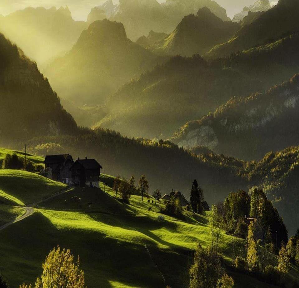 Mountain house, Schwyz, Switzerland   Wonderful Places In The World