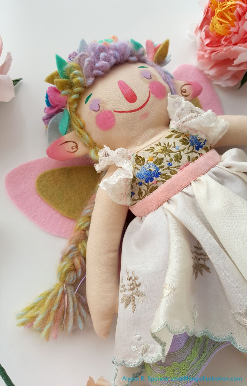 The May Queen- a handmade doll