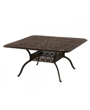 Fantastic Hanamint Tuscany 60 Inch Square Table Outdoor Dining Set Bralicious Painted Fabric Chair Ideas Braliciousco