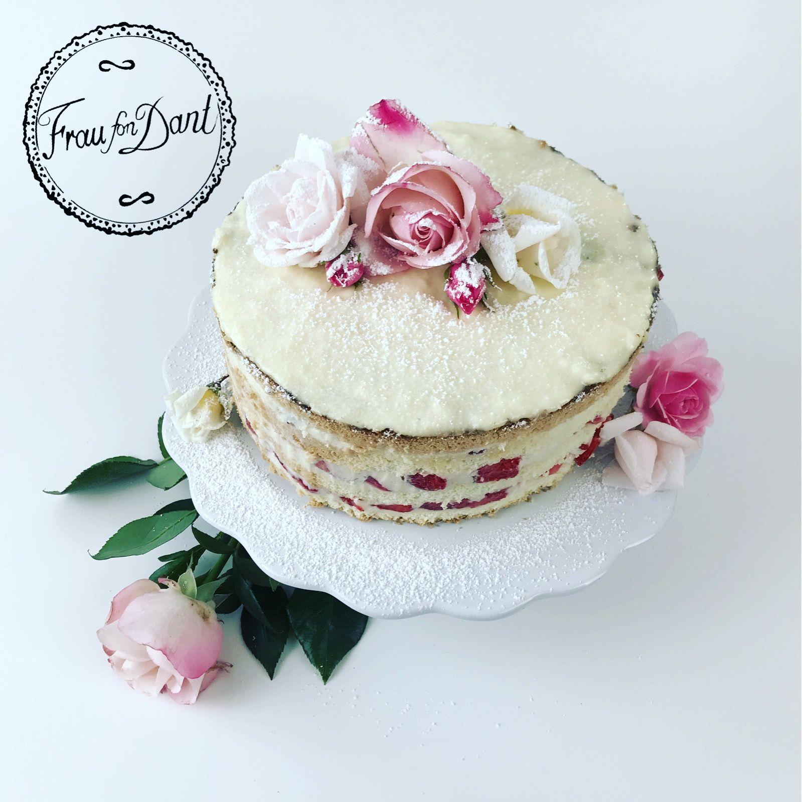 Weiße Schokolade Erdbeer Torte – Frau fon Dant