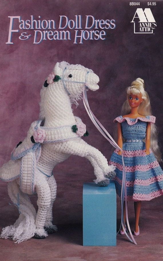 Fashion Doll Dress Dream Horse Annies Attic Crochet Pattern Club