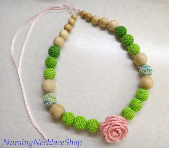Nursing Necklace Rose by NursingNecklaceShop on Etsy