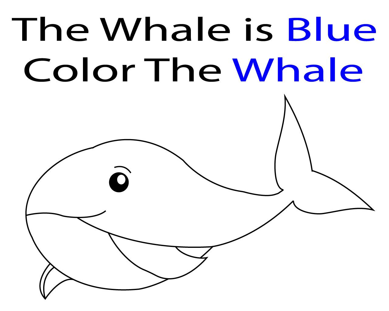 Blue Whale Coloring Pages