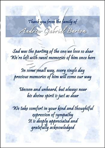 cards for bereavement expressing your gratitude and appreciation ...