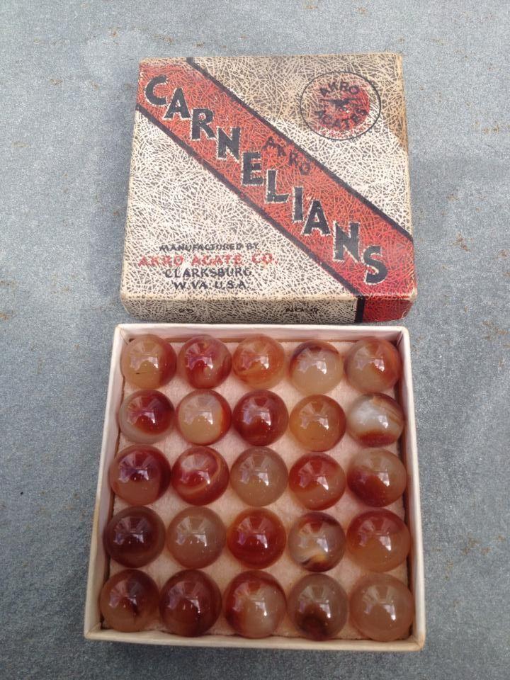 Akro Agate Cornelians Vintage Fantasy Marbles