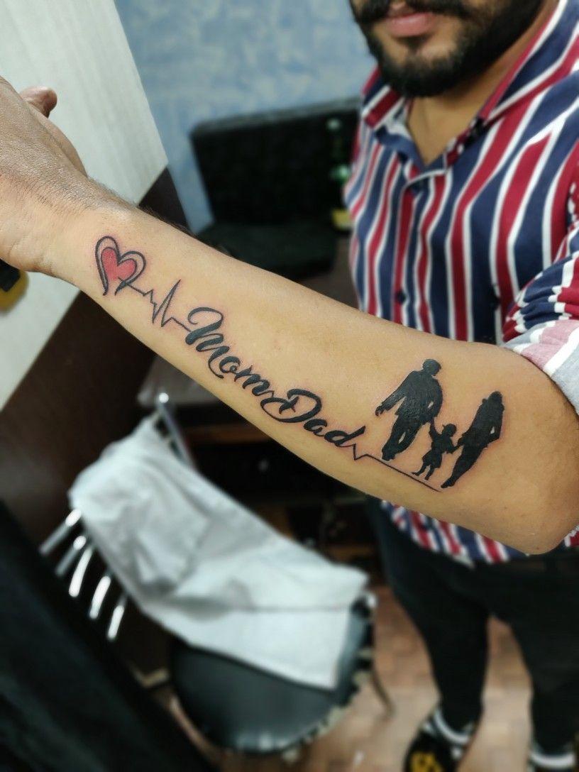 Mom dad tattoo design   Mom dad tattoos, Dad tattoos, Mom dad ...