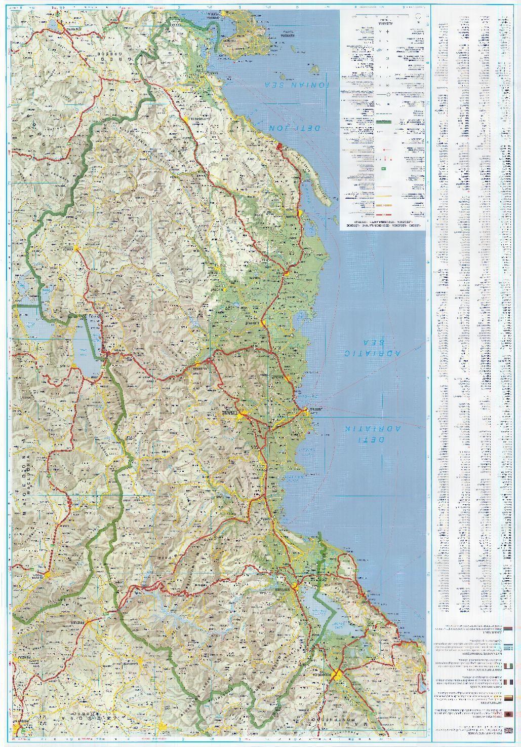 Albania road map 1 Albania Macedonia and Montenegro