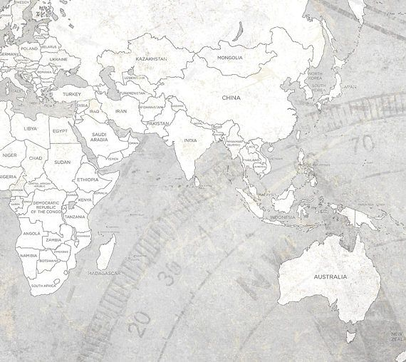 World map canvas print vintage light gray white neutral map world map canvas print vintage light gray white neutral map gumiabroncs Image collections