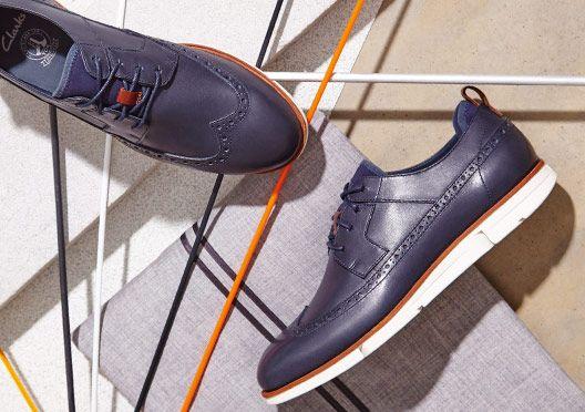 Trigen Limit, Navy leather Clarks mens shoes with flexible sole | clarks.eu