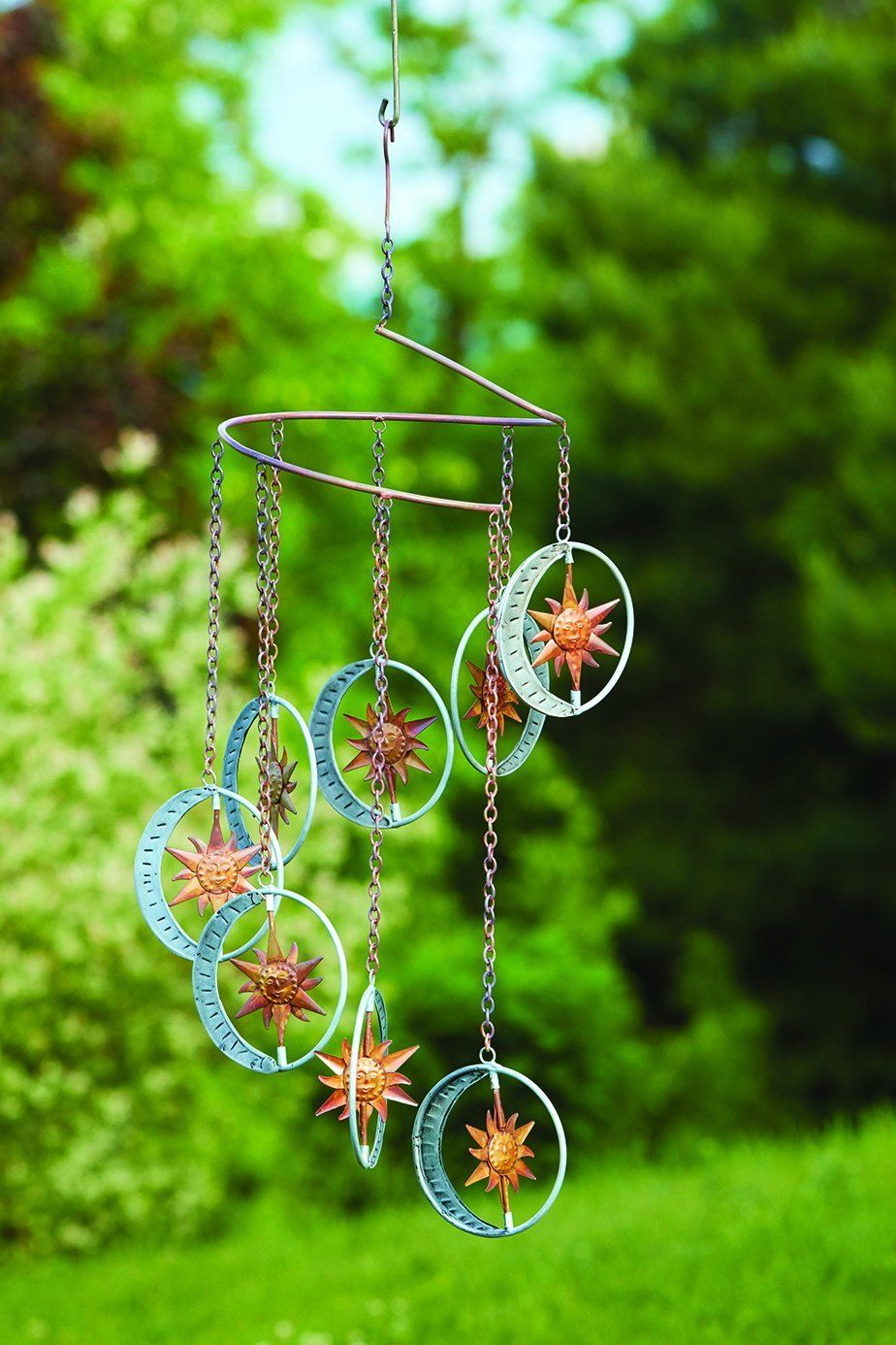 Hanging Sun and Moon Mobile Garden & Yard Mobiles & Wind