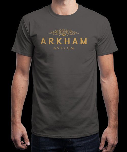 """ARKHAM Asylum"" is today's £9/€11/$12 tee for 24 hours only on Pin this for… 
