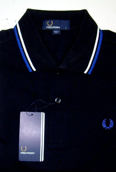 3ccc5f0e3 NEW - Just arrived - Fred Perry Classic Fit Twin Tipped Polo Shirt- BLACK /  BLUE / WHITE #fredperry #ayp #punk