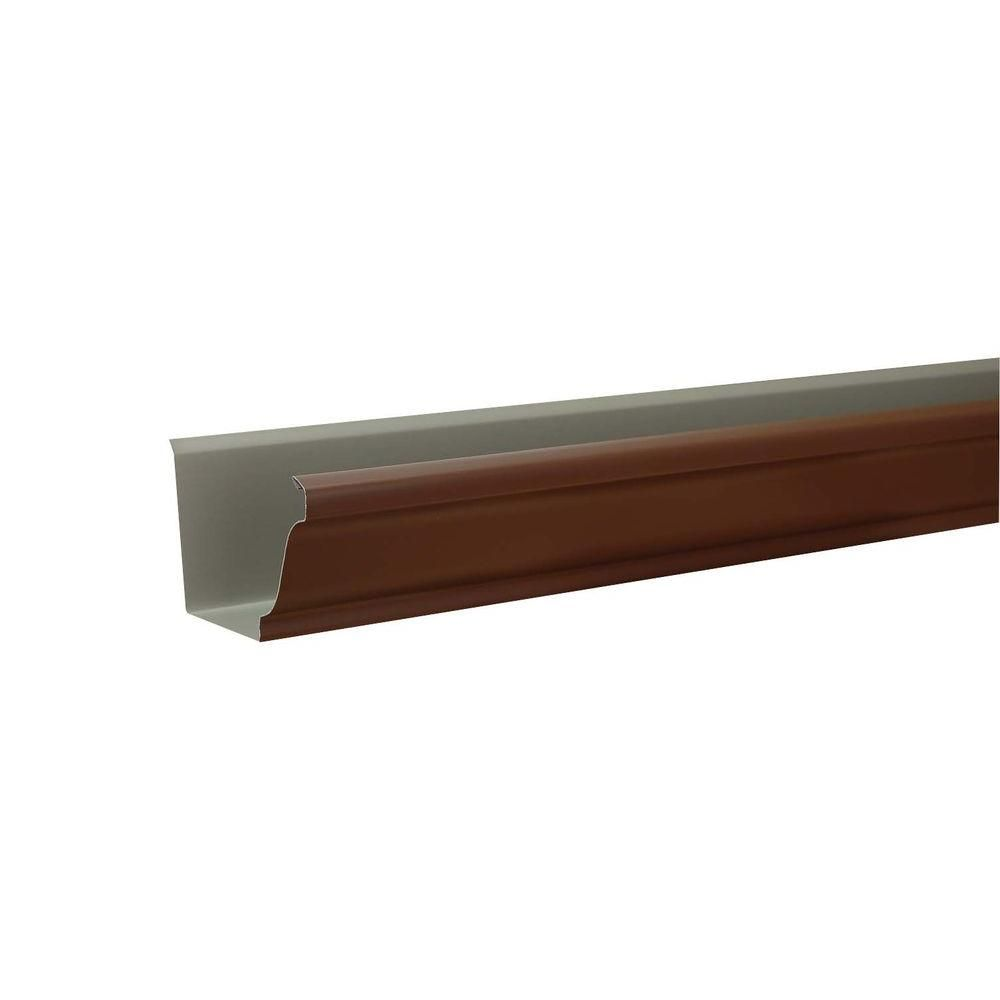 Amerimax Home Products 5 In X 10 Ft K Style Royal Brown Aluminum Gutter 24002015120 The Home Depot Gutter 10 Things Aluminum