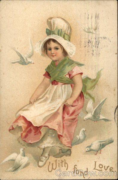 With Fond Love - Child & Doves Children
