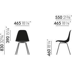 Designer Furniture Eames Fiberglass Side Chair Dsx Felt Glider Vitravitra Chair Designer Dsx Eames Felt Fiberglas In 2020 Side Chairs Furniture Design Eames