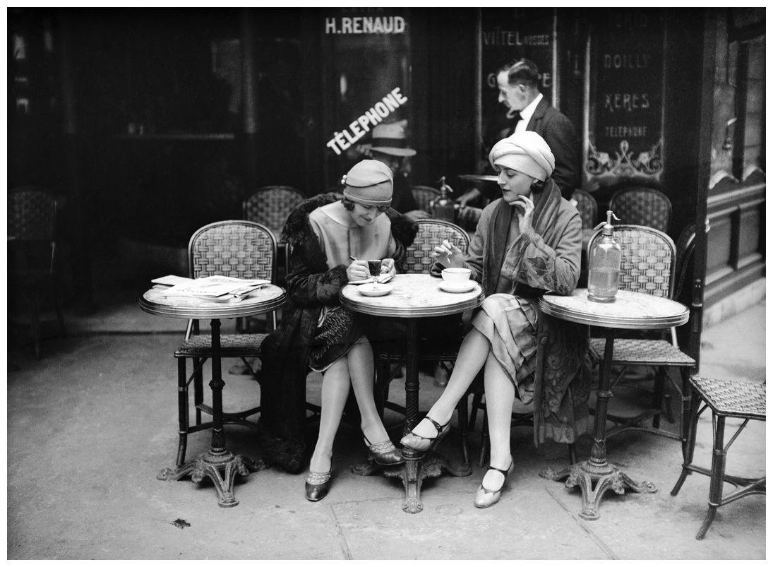 Terrasse De Café Paris 1925 Robert Doisneau Paris 1920s