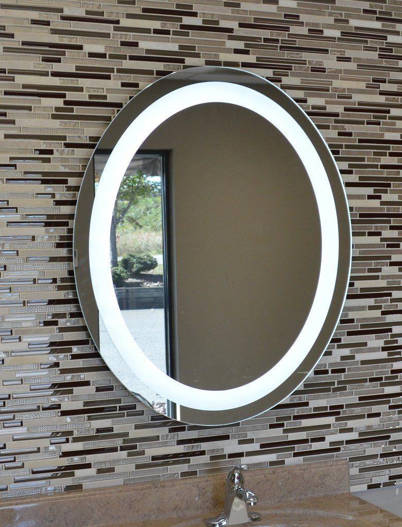 Front Lighted Led Bathroom Vanity Mirror 30 X 36 Oval Wall Mounted Bathroommirror Bathroom Vanity Mirror Bathroom Mirror Amazing Bathrooms