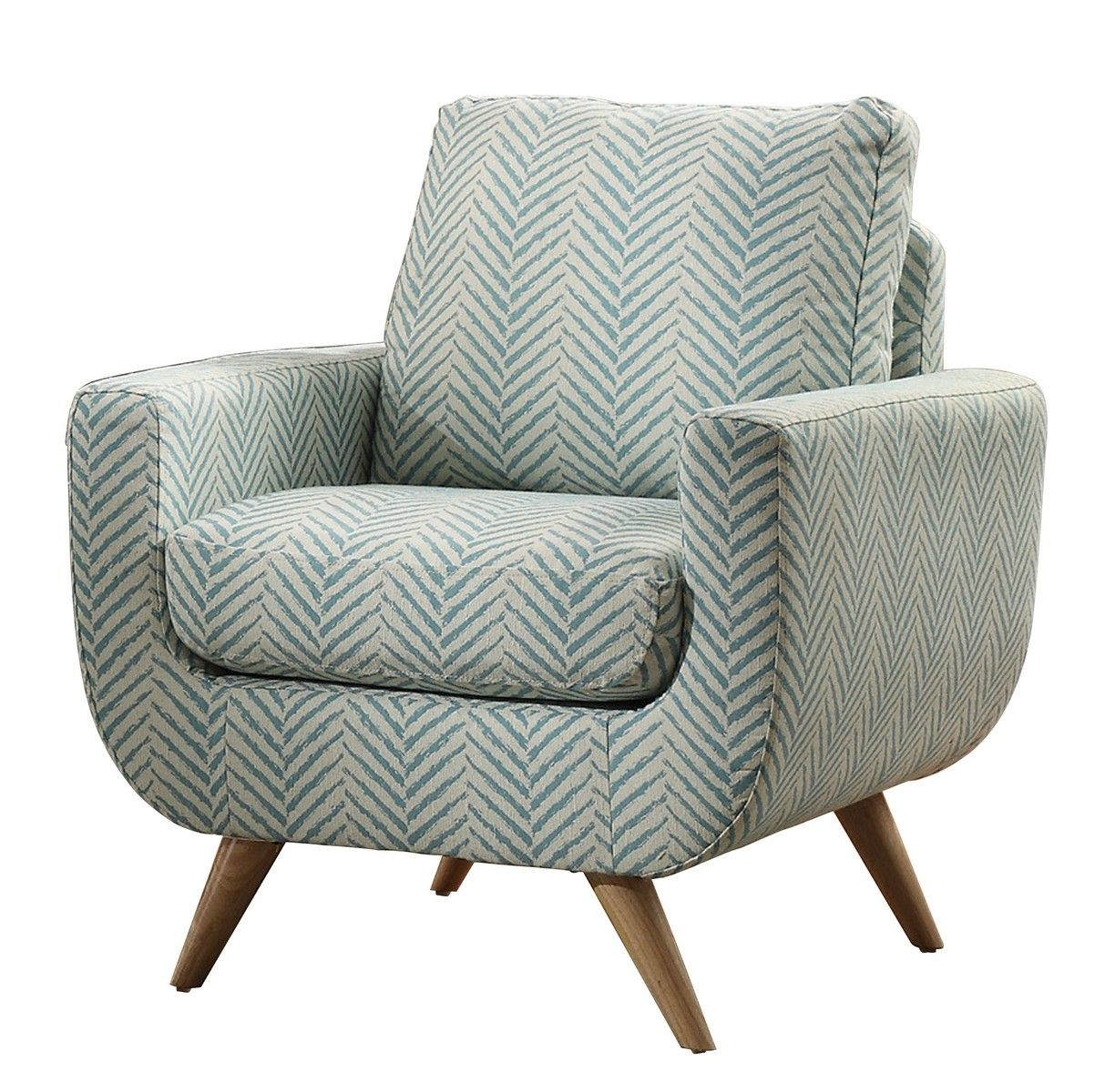 Homelegance Deryn Accent Chair Polyester Teal Upholstered